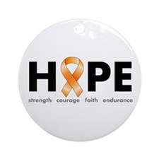 Orange Ribbon Hope Products.png Ornament (Round)