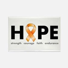 Orange Ribbon Hope Products.png Rectangle Magnet