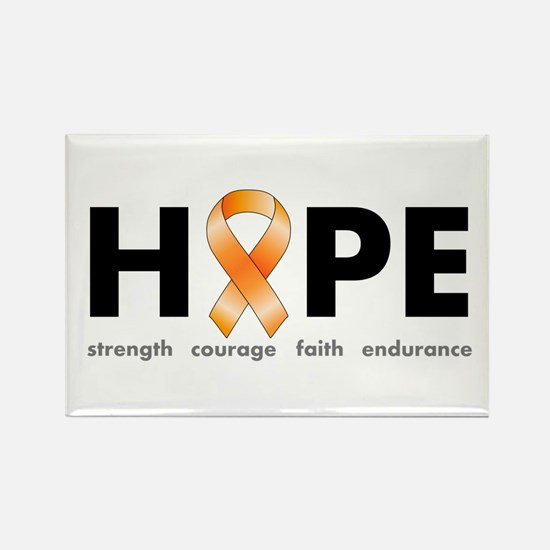 Orange Ribbon Hope Products.png Rectangle Magnet