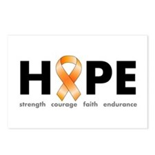 Orange Ribbon Hope Products.png Postcards (Package