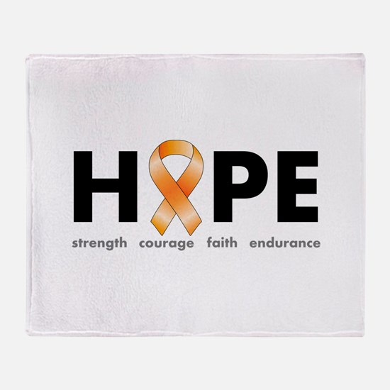 Orange Ribbon Hope Products.png Throw Blanket