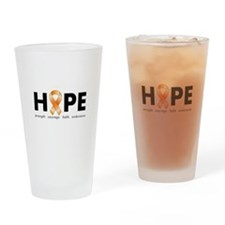 Orange Ribbon Hope Products.png Drinking Glass