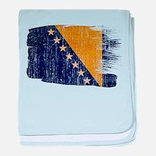 Bosnia and Herzegovina Flag baby blanket