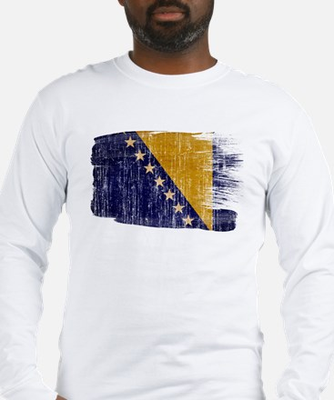 Bosnia and Herzegovina Flag Long Sleeve T-Shirt