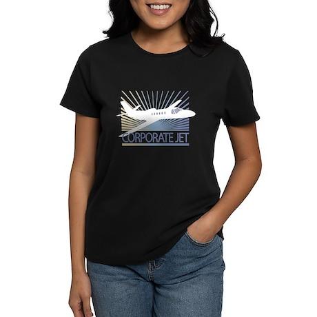 Aircraft Corporate Jet Women's Dark T-Shirt