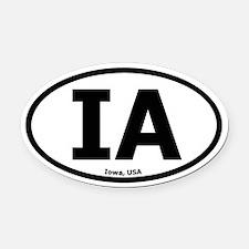 Iowa Oval Car Magnet