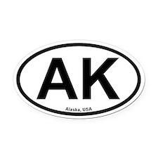 Alaska Oval Car Magnet