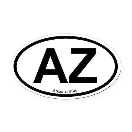 Arizona Oval Car Magnet
