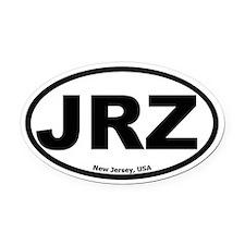 JRZ New Jersey Oval Car Magnet