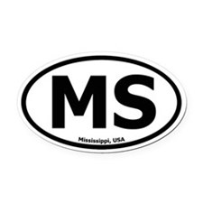 Mississippi Oval Car Magnet