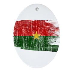 Burkina Faso Flag Ornament (Oval)