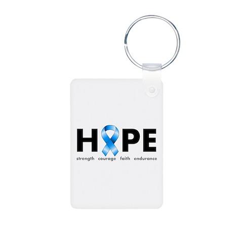 Blue Ribbon Hope Aluminum Photo Keychain