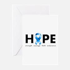 Blue Ribbon Hope Greeting Cards (Pk of 20)