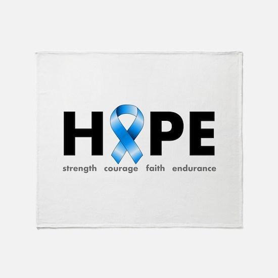 Blue Ribbon Hope Throw Blanket
