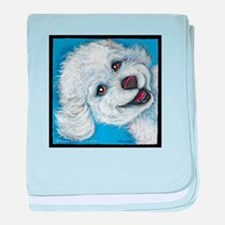 "Bichon Poo ""Izzy"" baby blanket"