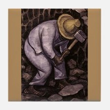 Diego Rivera Stone Mason Ceramic Art Tile Coaster
