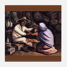 Diego Rivera Curandero (Healer) Art Tile Coaster