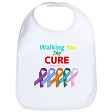 Walking for the CURE (relay for life).png Bib