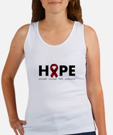 Burgundy Ribbon Hope Women's Tank Top