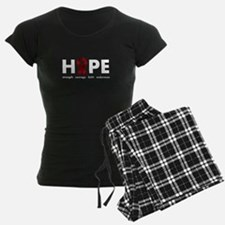 Burgundy Ribbon Hope Pajamas