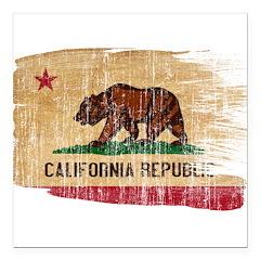 California Flag Square Car Magnet 3