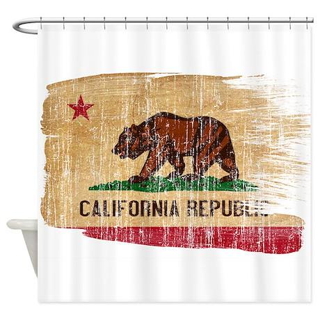 California Flag Shower Curtain