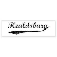 Healdsburg - Vintage Bumper Bumper Sticker