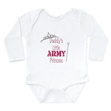 Unique Army princess Long Sleeve Infant Bodysuit