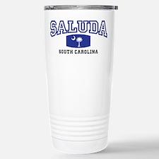 Saluda South Carolina, SC, Palmetto State Flag Cer