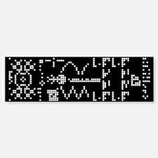 Alien Binary Crop Circle Code UFO Bumper Bumper Bumper Sticker