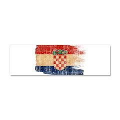 Croatia Flag Car Magnet 10 x 3