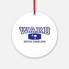 Ward South Carolina, SC, Palmetto State Flag Ornam