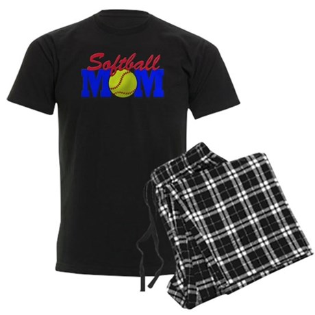 Softball MOM Men's Dark Pajamas