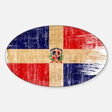 Dominican Republic Flag Sticker (Oval)