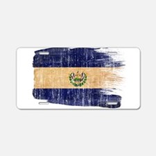 El Salvador Flag Aluminum License Plate