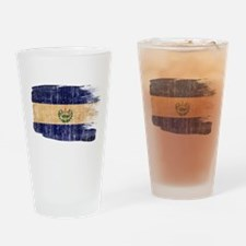 El Salvador Flag Drinking Glass