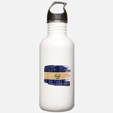 El Salvador Flag Water Bottle