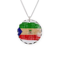 Equatorial Guinea Flag Necklace