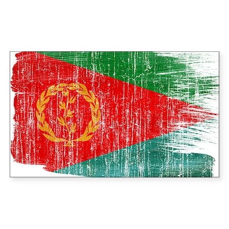 Eritrea Flag Sticker (Rectangle)