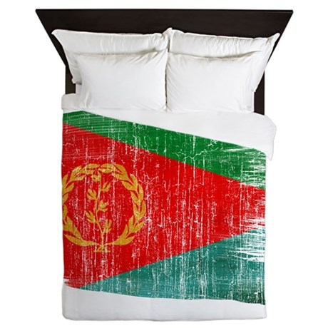 Eritrea Flag Queen Duvet