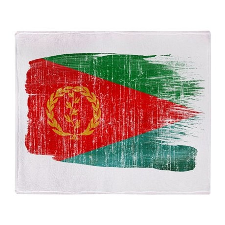 Eritrea Flag Throw Blanket