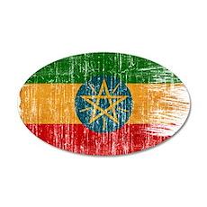 Ethiopia Flag 22x14 Oval Wall Peel