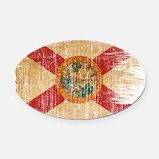 Florida Flag Oval Car Magnet