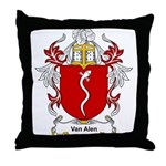 Van Alen Coat of Arms Throw Pillow