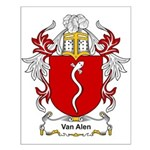 Van Alen Coat of Arms Small Poster