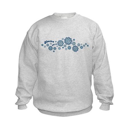 Obama Logo Hawaiian Flowers Kids Sweatshirt
