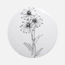 Black Eyed Susan Ornament (Round)