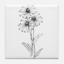 Black Eyed Susan Tile Coaster