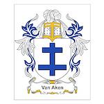 Van Aken Coat of Arms Small Poster