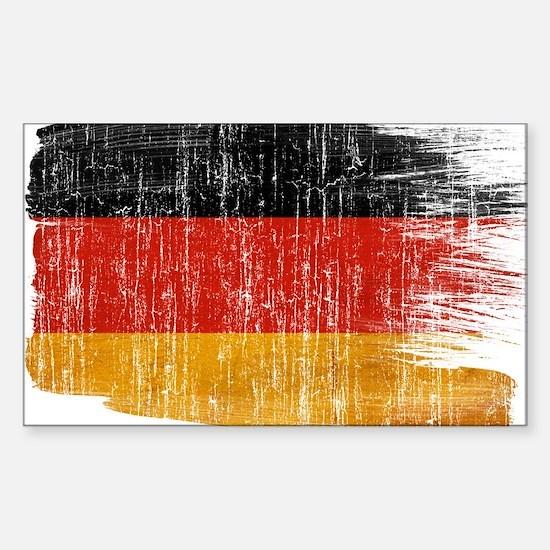 Germany Flag Sticker (Rectangle)